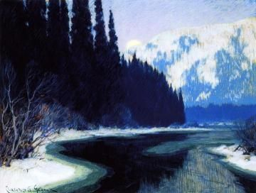 A Silent Stream of the North Artwork by Clarence Gagnon