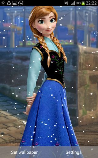 Frozen Snow Fall Live Wallpaper is a beautiful live wallpaper featuring gentle snowflakes falling over beautiful princess<br>Anna and other characters. Wallpaper is rendered in OpenGL with full support for both phones and tablets in any <br>orientation!. You can adjust the speed and number of snow particles in settings. This app lets allow you to change the images randomly as well.<br>Key Features:<br>HD graphics <br>Animation via OpenGL<br>Setting for snow particles in number and…