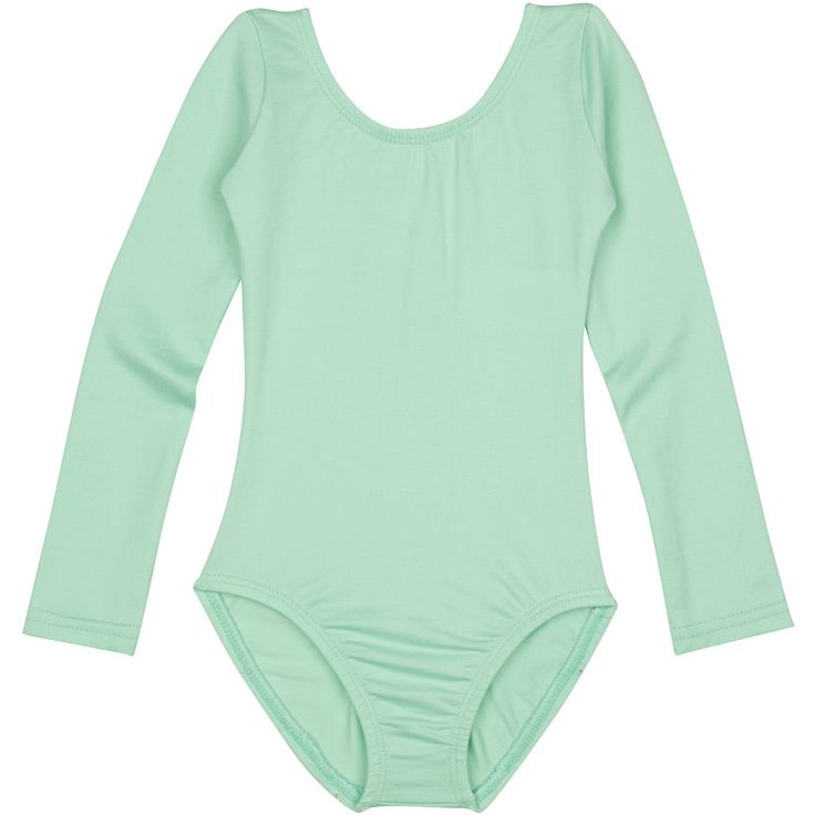 MINT GREEN Long Sleeve Leotard for Toddler and Girls, Dancewear Made in USA – The Leotard Boutique