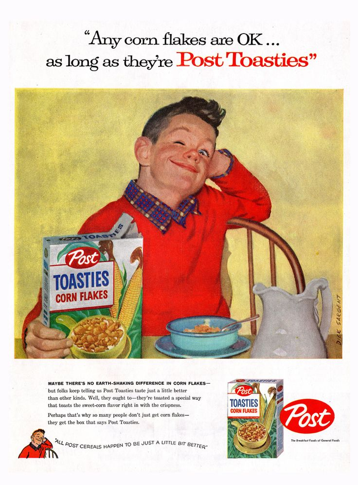 Post Toasties - Kid Wink - Magazine Ad - 1957 - Dick Sargent art