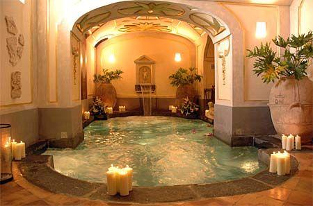Indoor pool at the divine Palazzo Santa Croce, Positano!