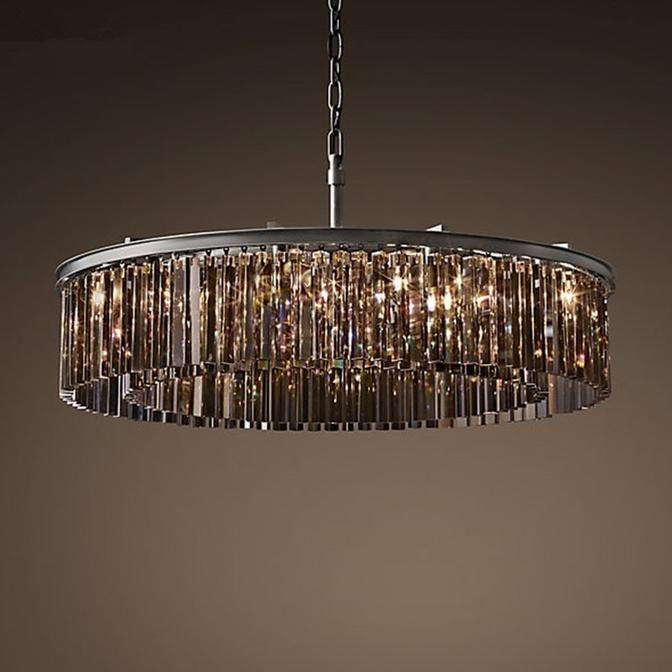 Nyla Chandelier Crystal Chandelier Lighting Round Pendant Light