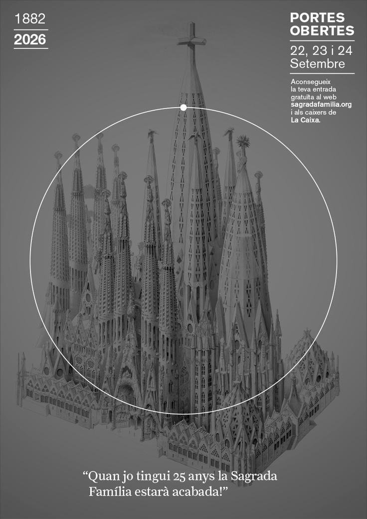 2026 // Campanya Portes Obertes, Puertas Abiertas, Open Days 1882 | 2026 Sagrada Familia #design #barcelona #sagradafamilia #photography