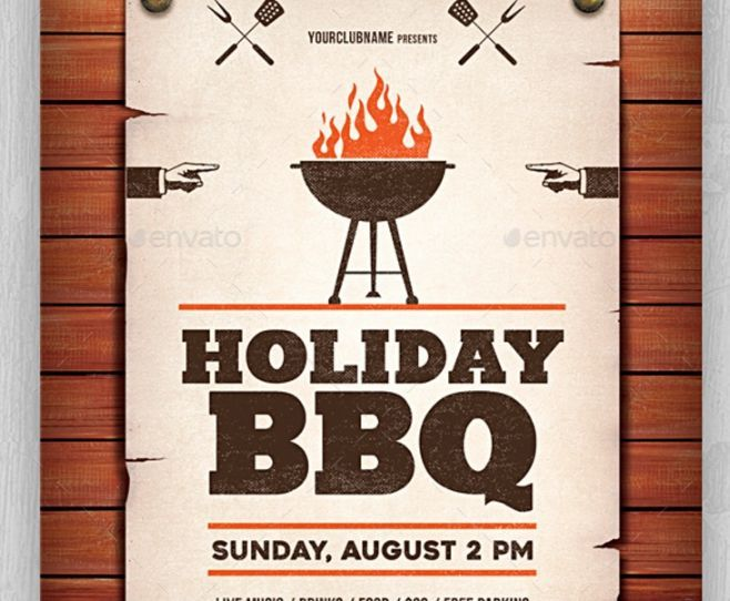 Bbq Flyer Barbecue Flyer Template Downoad  Tasty Bbq Event