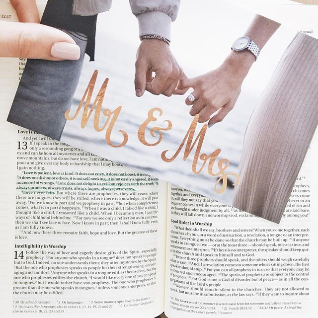 """sent out our wedding invitations  // edit: the invitation pic is flipped for the """"mr & mrs"""" text to make sense, the ring isn't on my right hand"""