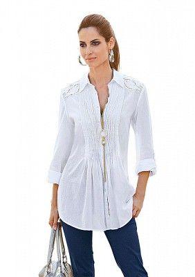 Длинная блузка, H.i.s. – купить по цене 8095 руб: артикул 1262607   Интернет-магазин Bellore.ru