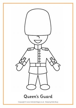 Queens Guard Colouring Page