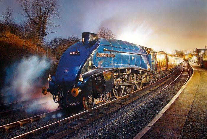 Fine Art Prints of Railway Scenes & Train Portraits - Sir Nigel Gresley by James Green