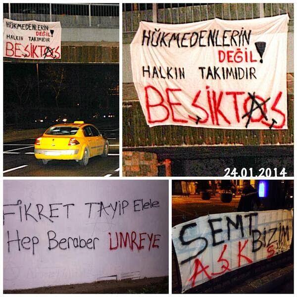 """Beşiktaşlı Taraftarlar Başbakan'a Karşı: """"Hükmedenlerin Değil Halkın Takımıdır Beşiktaş"""" http://www.baskahaber.org/2014/01/besiktasl-taraftarlar-basbakana-kars.html"""