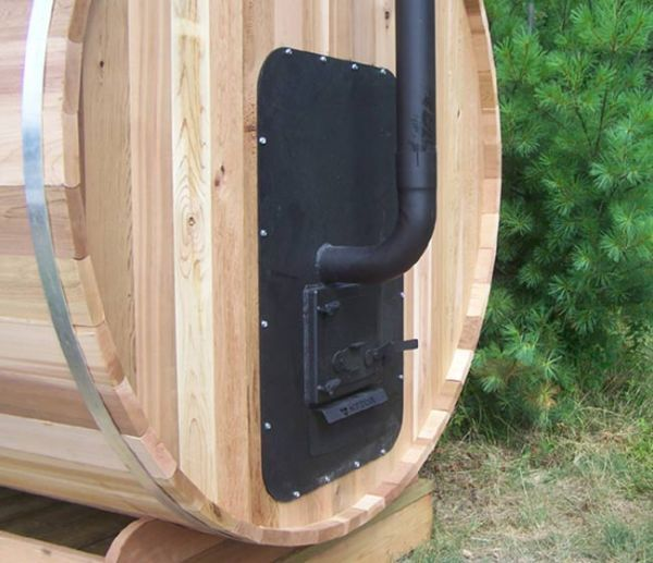sauna tonneau chauffé au bois