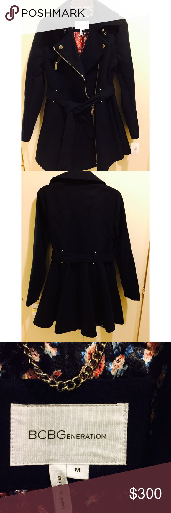 NWT BCBGeneration Coat Brand new BCBG coat, color navy. BCBGeneration Jackets & Coats