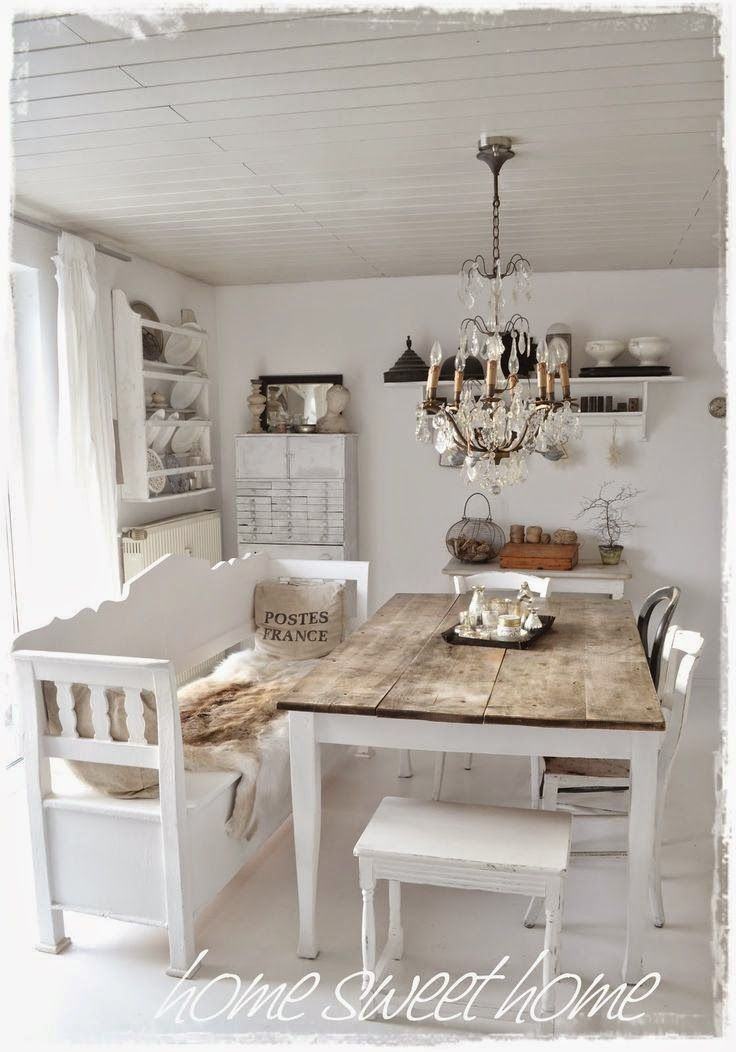 816 best images about shabby chic french country cottage for Table salle a manger shabby chic