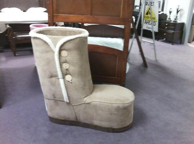 Wanting this fresh giant Ugg boot for the corner of your bedroom to put  under your. 9 best Cool bedroom ideas images on Pinterest