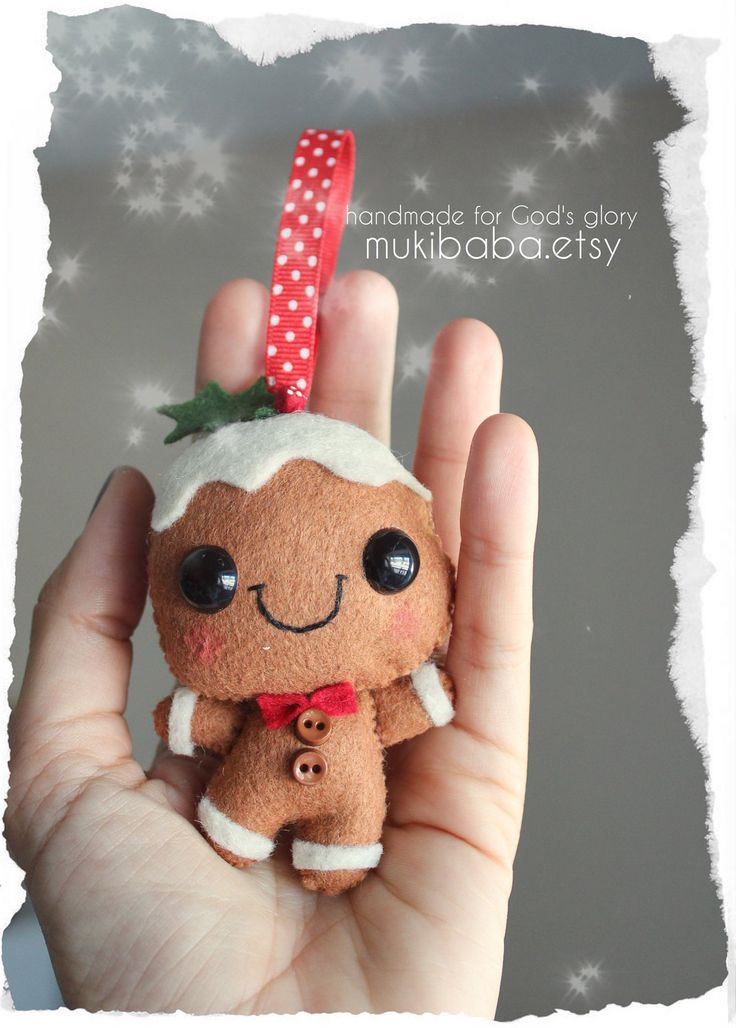 felt gingerbread ornament