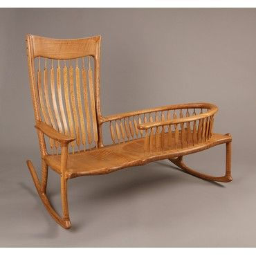 re:pin DESIGN drinkup |  2014 MADE exhibitor Laron Algren Woodworking Nanny Rocker #designdrinkup