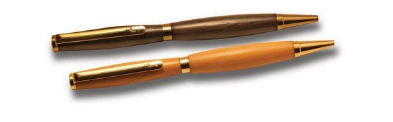 Ancient Irish Bog Oak Wood turned wood slim Pen by KeldurWoodcraft, $31.00