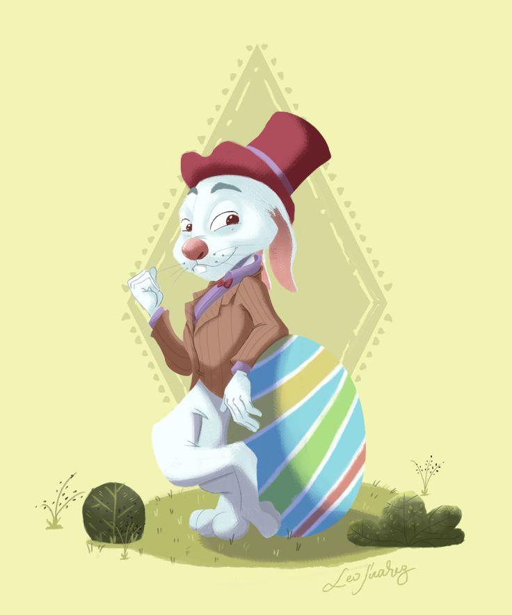Easter Bunny / Conejo de Pascua #DigitalIllustration