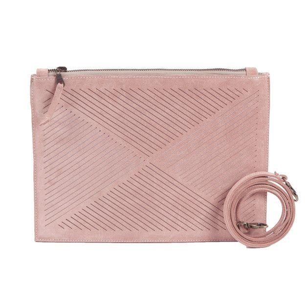 Handbag – suede clutch rose – a unique product by Lara-Kazis via en.DaWanda.com