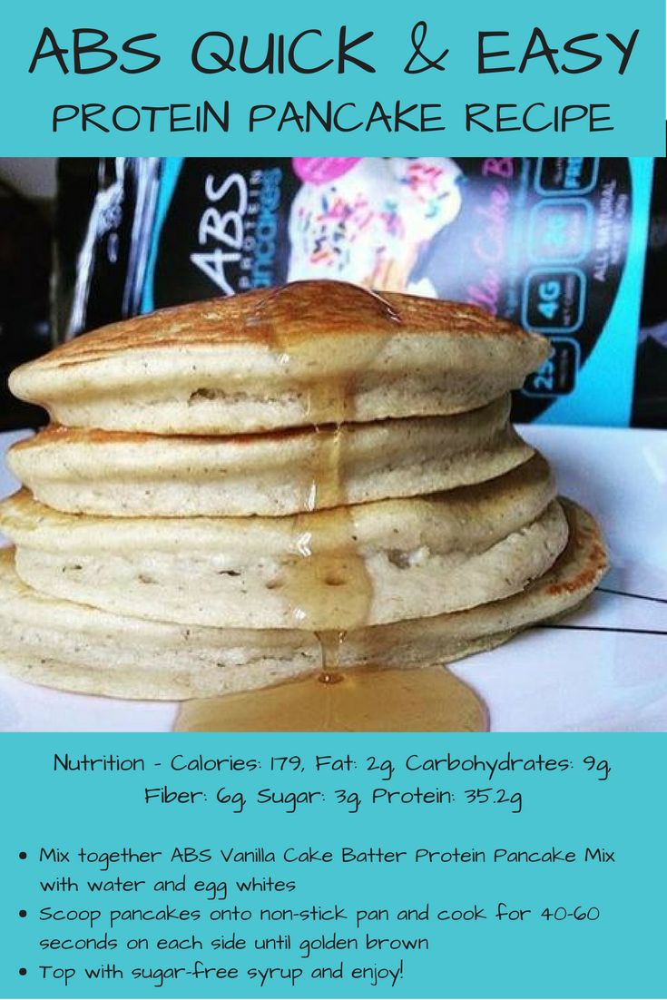 Quick And Easy Protein Pancake Recipe Protein Pancakes
