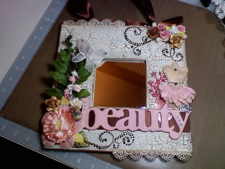 """""""The Jule Box"""": """"Beauty"""" ~ Altered framed mirror! LOVE THIS!"""