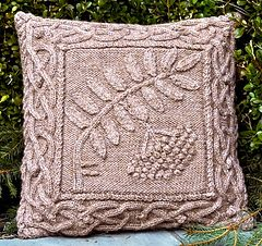 Celtic Rowan Pillow by Barbara A Pott. Pattern for purchase.