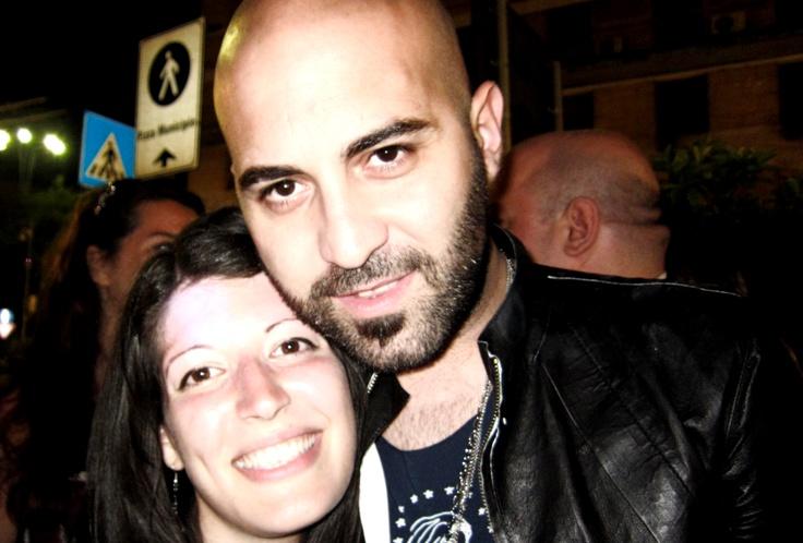 io e Giuliano Sangiorgi @negramaro  Napoli 08 giugno 2013...merci!