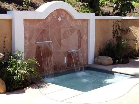 Another reason the waterfall sounds should be added to the spa! #pinmydreambackyard