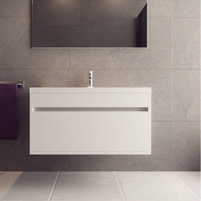 Margret 36 Wall Mounted Single Bathroom Vanity Set In 2020 Single Bathroom Vanity Bathroom Vanity Bathroom Redesign