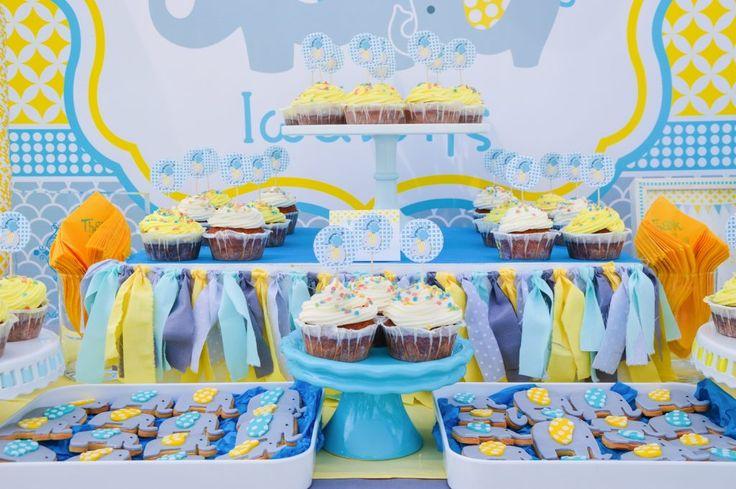 #baptism in #Rhodes #Greece #candytable #sweets #bisquits #elephanttheme #GoldenAppleWeddings #EventPlanners