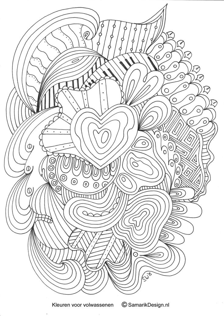 Kleurplaat voor volwassenen doodle kleurplaten voor volwassenen colouring for adults - Idee voor volwassenen ...
