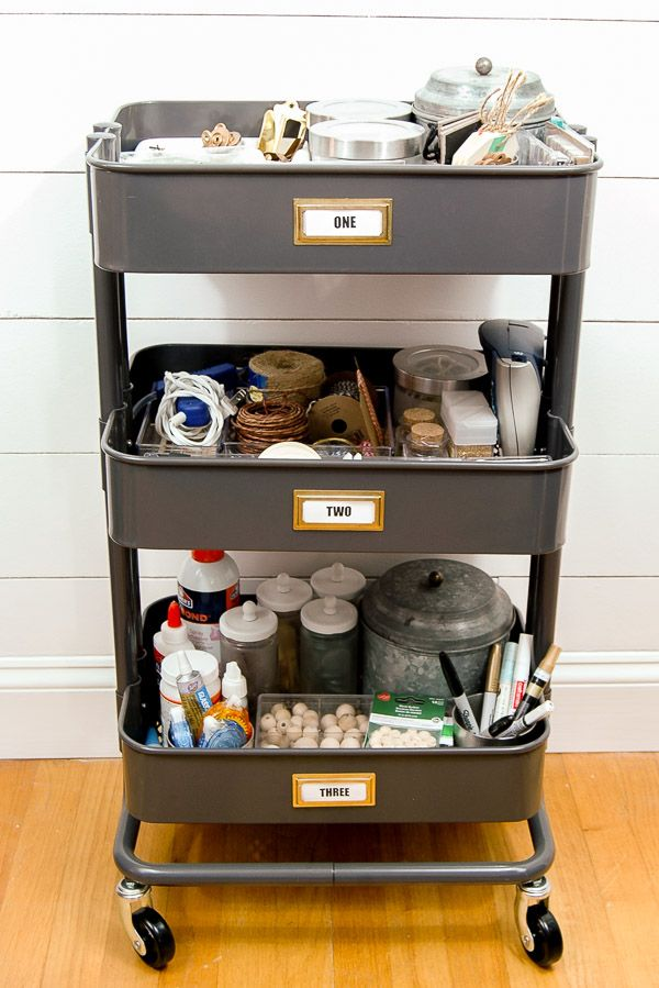 1065 best craft room images on pinterest for Ikea luggage cart