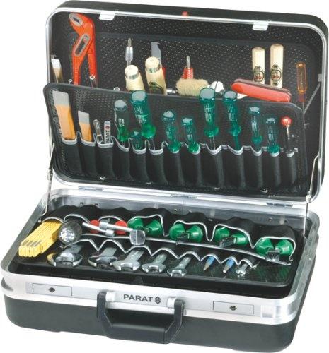 PARAT 432000171 Silver Werkzeugkoffer, mit max. Inneneinrichtung | Elektro & Handwerkzeuge
