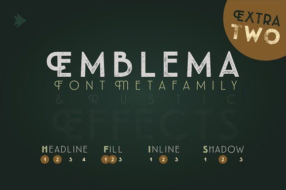 Emblema Headline 2EXTRA by graffistyling on @creativemarket
