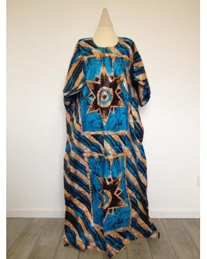 Boubou africain Bleu XXL | Vêtement Grande Taille | Homme et Femme | N°54