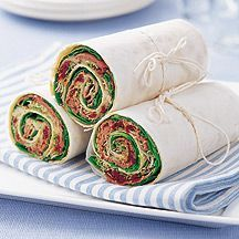 WeightWatchers.nl: Weight Watchers Recepten - Wraps met rosbief en zongedroogde tomaten.