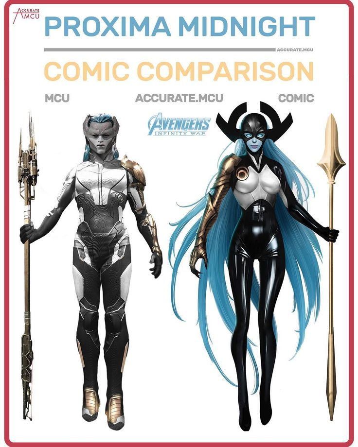 "17.5rb Suka, 242 Komentar - • Accurate.MCU • mcu fanpage (@accurate.mcu) di Instagram: ""• PROXIMA MIDNIGHT - COMIC COMPARISON • How exited are you for infinity war ??? let me know in the…"""