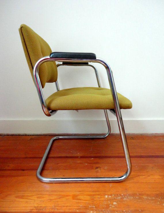 Vintage Bent Tubular Metal Desk Office by RewindHomeInteriors, $85.00