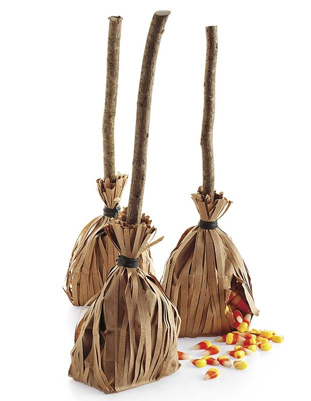 brown paper lunch sacks for halloween treat bags