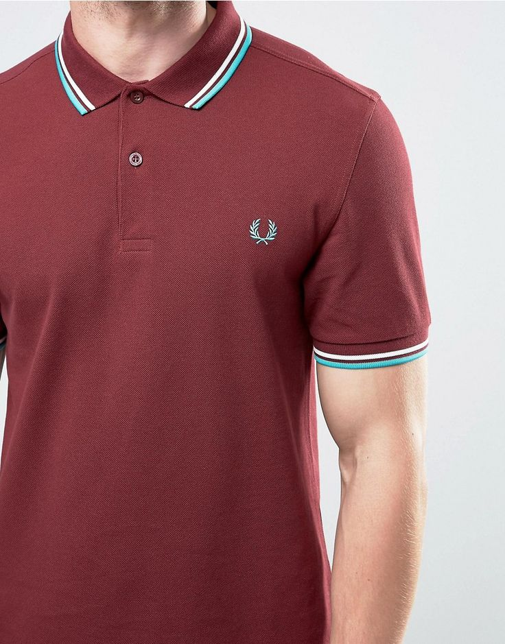 Image 3 of Fred Perry Polo Shirt With Tipping In Port