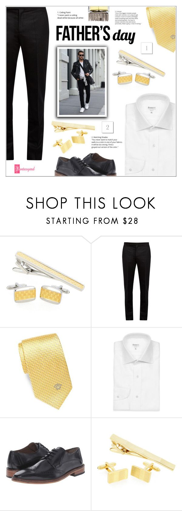 """""""Father's Day Gift Guide"""" by shambala-379 ❤ liked on Polyvore featuring Maison Margiela, Versace, Emmett, Giorgio Brutini, Moschino, men's fashion and menswear"""
