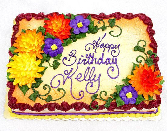 fall themed birthday sheet cakes for women | birthdaycakeqtrsheet-mumsfallcolors