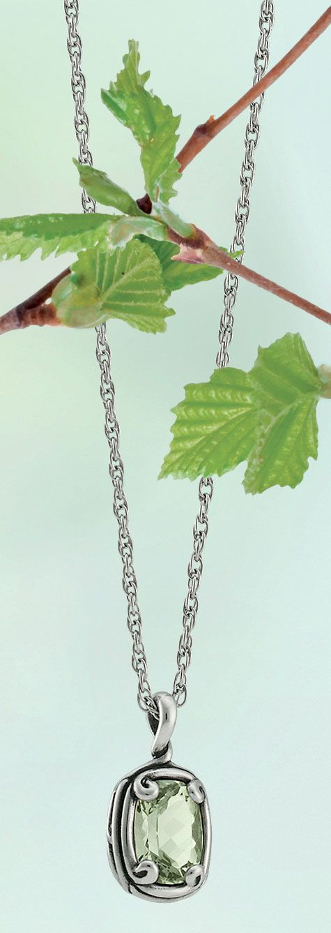 Spring Collection - Crafted Loops Prasiolite Pendant shown on Rope Chain #JamesAvery