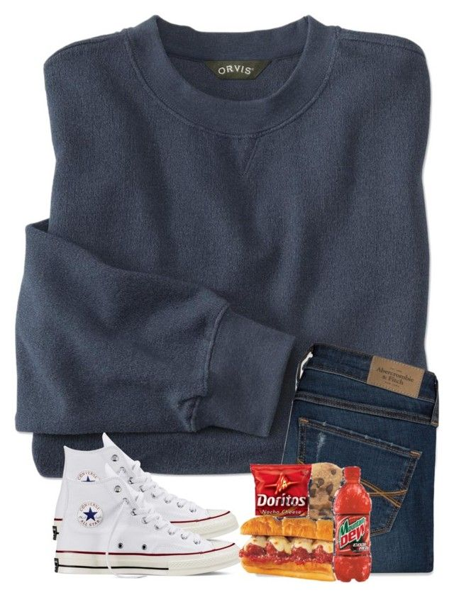 """""""Finally going back to school tomorrow♀️"""" by preppyandsouthern17 ❤ liked on Polyvore featuring Abercrombie & Fitch and Converse"""
