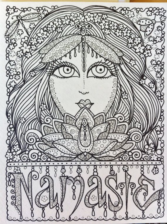 Printable Yoga Coloring Pages : 36 best colouring pages images on pinterest
