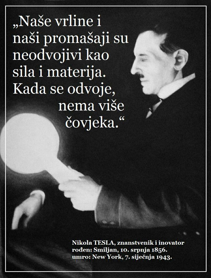 Nikola Tesla o vrlinama i promašajima