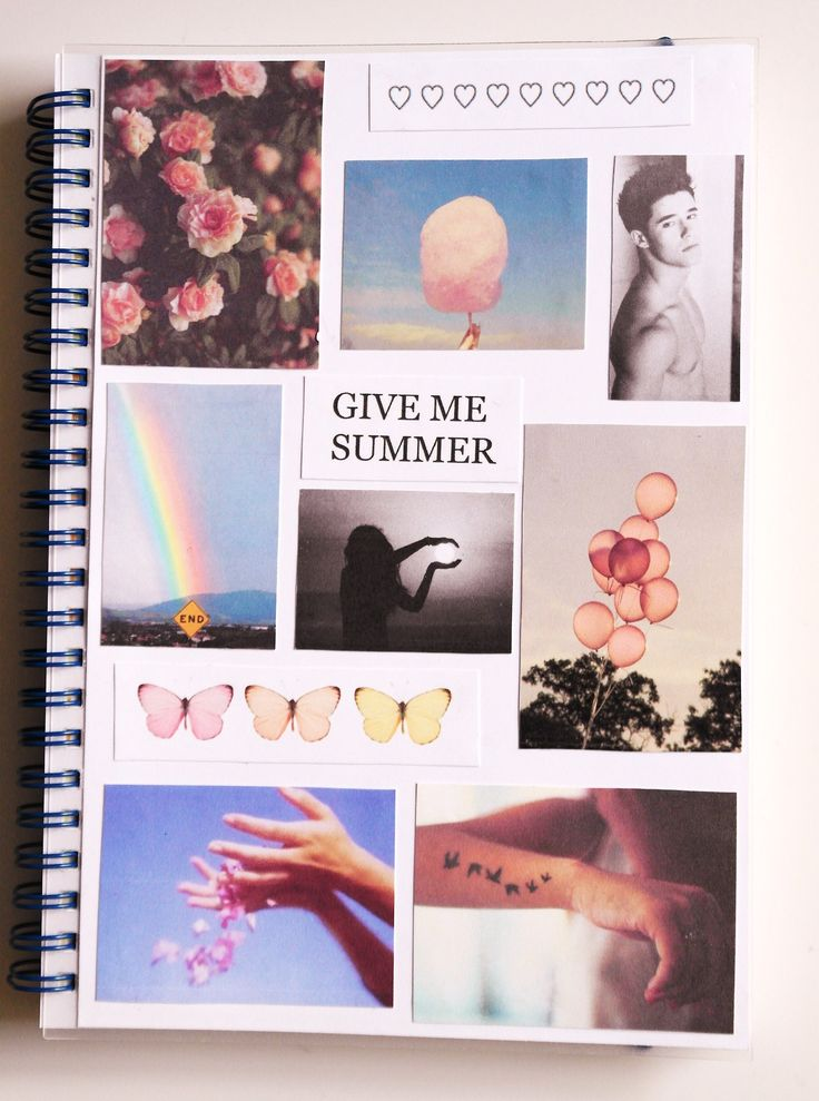 Book Cover Collage Design ~ Journal cover collage not mine from tumblr art
