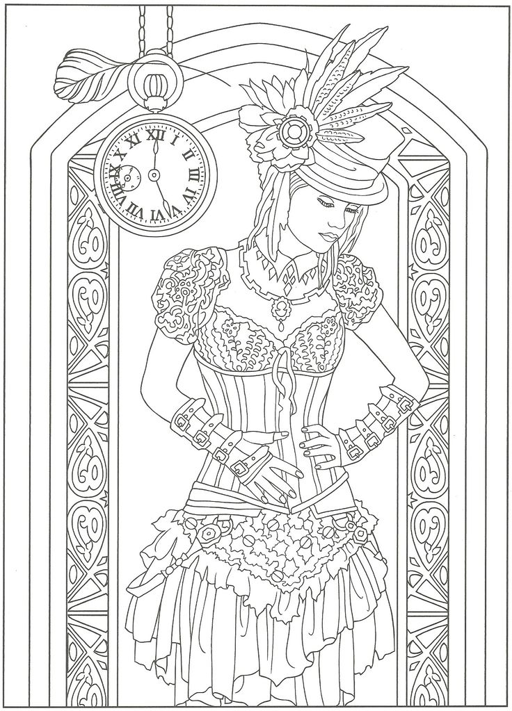 Creative Haven Steampunk Coloring Books Coloring Pages