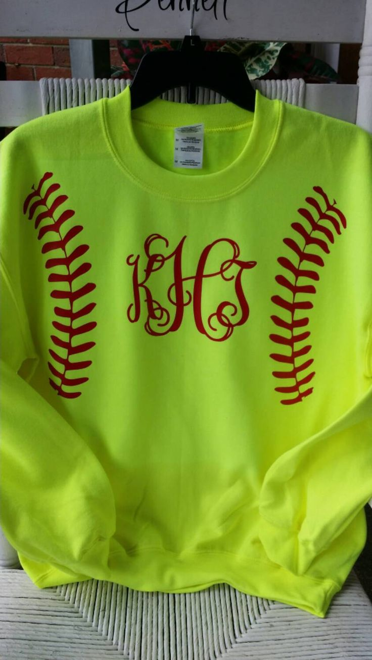 Softball+SweatshirtsADULT+Crew+Neck+in+Glitter+or+by+AndMore2004