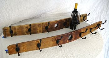Wine Barrel Coat Rack by Wine Country Craftsman | Sticks Furniture, Home Decorative Accents