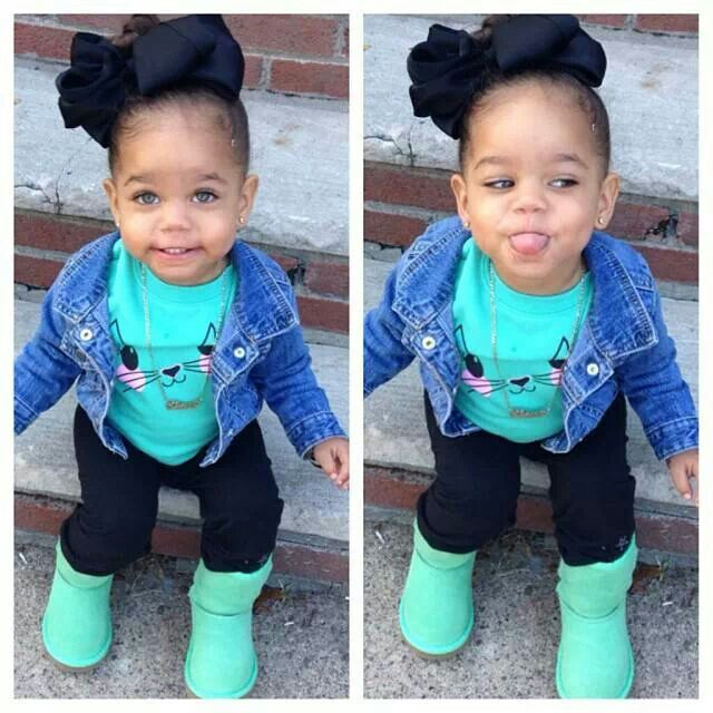 Gorgeous little girl with amazing style!